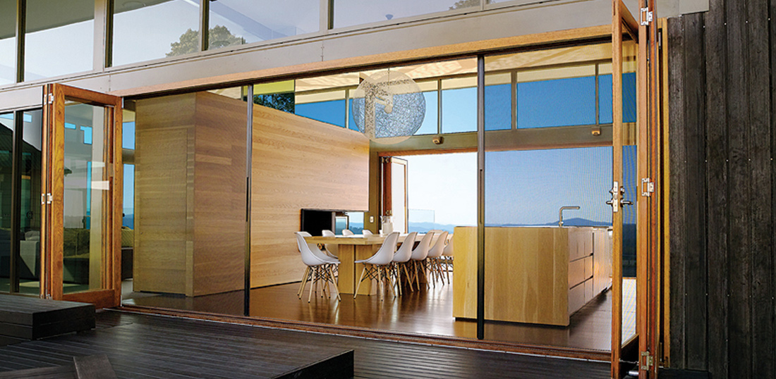 Integrated Concealed Non Pleated Screens Lacantina Doors