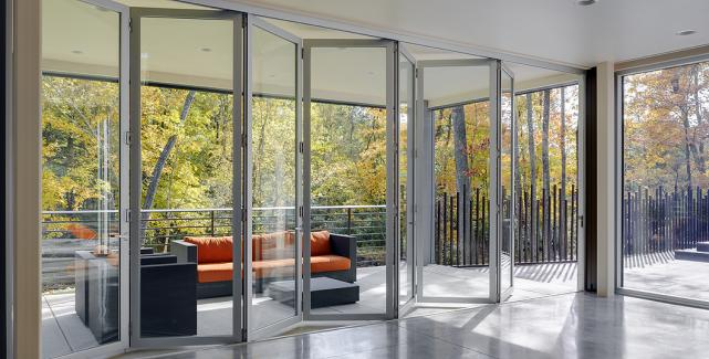 Impact Rated Aluminum Thermally Controlled Folding Doors