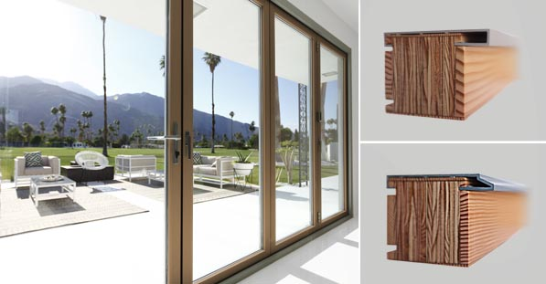 Extruded Aluminum Exterior and Wood Interior