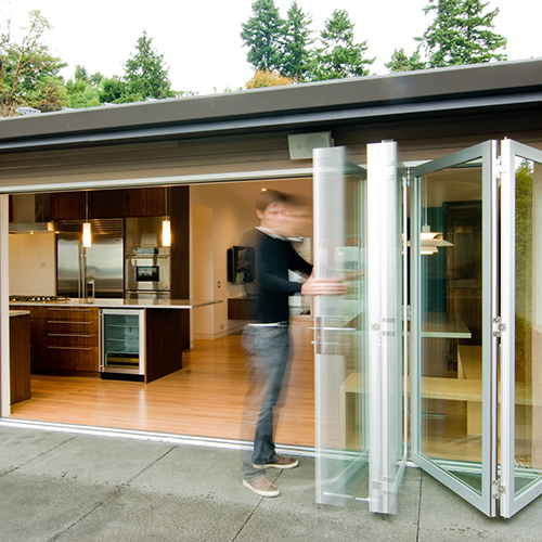 Bifold Doors Accordion Folding Glass Multi Slide Swing Doors